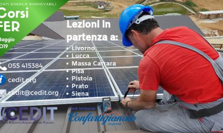 Energie rinnovabili, via a Pistoia ai corsi obbligatori per impiantisti