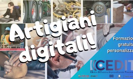Artigiani Digitali – Formazione e consulenza gratuita per avviare nuove imprese nell'ambito delle nuove tecnologie applicate all'artigianato