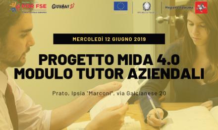 """A Prato evento di formazione dei """"tutor aziendali"""" – Progetto MIDA 4.0"""