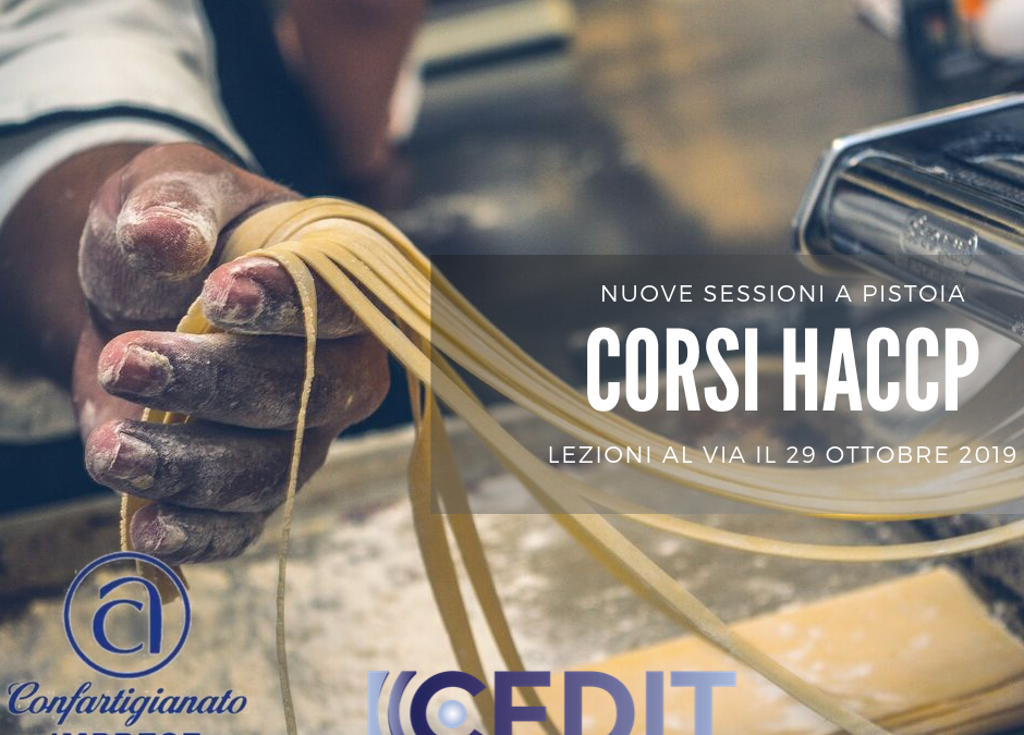 Tornano i corsi HACCP a Pistoia: via il 29 ottobre 2019