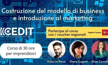 """Costruzione del modello di business e introduzione al marketing: corso sostenuti dai voucher """"Industria 4.0"""" della Regione Toscana"""